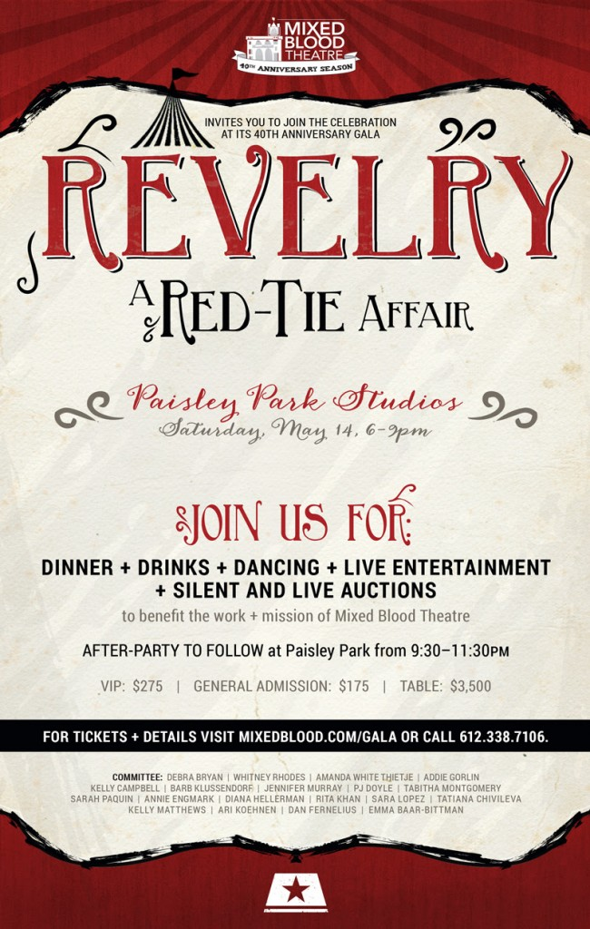 Revelry – Mixed Blood Theater 40th Anniversary Party